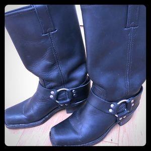 Frye Black Harness Boots